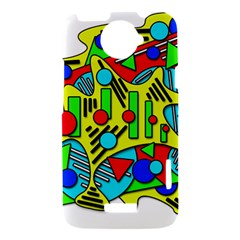 Colorful chaos HTC One X Hardshell Case