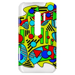 Colorful chaos HTC Evo 3D Hardshell Case
