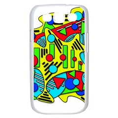 Colorful chaos Samsung Galaxy S III Case (White)