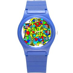 Colorful chaos Round Plastic Sport Watch (S)
