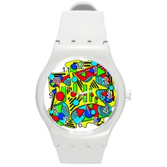 Colorful chaos Round Plastic Sport Watch (M)