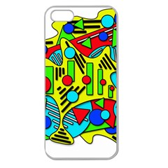 Colorful chaos Apple Seamless iPhone 5 Case (Clear)
