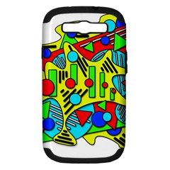 Colorful chaos Samsung Galaxy S III Hardshell Case (PC+Silicone)