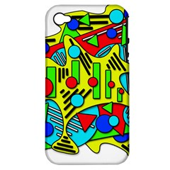 Colorful chaos Apple iPhone 4/4S Hardshell Case (PC+Silicone)