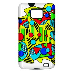 Colorful chaos Samsung Galaxy S II i9100 Hardshell Case (PC+Silicone)