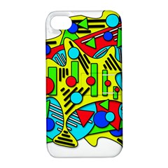 Colorful chaos Apple iPhone 4/4S Hardshell Case with Stand
