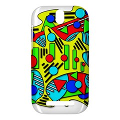 Colorful chaos HTC One SV Hardshell Case