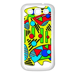 Colorful chaos Samsung Galaxy S3 Back Case (White)