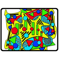 Colorful chaos Double Sided Fleece Blanket (Large)