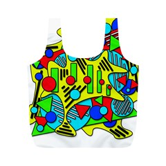 Colorful chaos Full Print Recycle Bags (M)