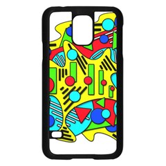 Colorful chaos Samsung Galaxy S5 Case (Black)