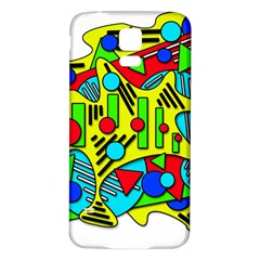 Colorful chaos Samsung Galaxy S5 Back Case (White)