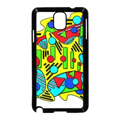 Colorful chaos Samsung Galaxy Note 3 Neo Hardshell Case (Black)