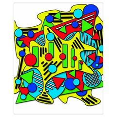 Colorful chaos Drawstring Bag (Small)