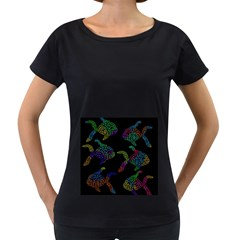 Decorative fish Women s Loose-Fit T-Shirt (Black)