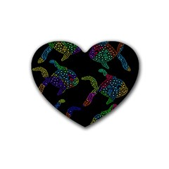 Decorative fish Rubber Coaster (Heart)