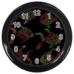 Decorative fish pattern Wall Clocks (Black)