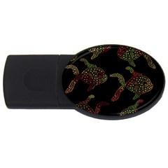 Decorative fish pattern USB Flash Drive Oval (1 GB)