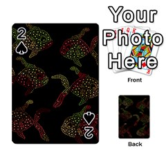 Decorative fish pattern Playing Cards 54 Designs