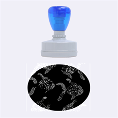 Decorative fish pattern Rubber Oval Stamps