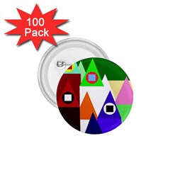 Colorful houses  1.75  Buttons (100 pack)