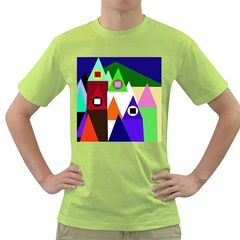 Colorful houses  Green T-Shirt