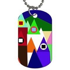 Colorful houses  Dog Tag (One Side)