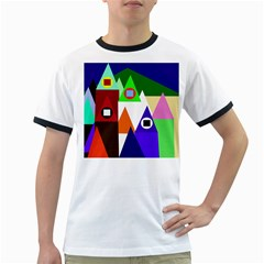Colorful houses  Ringer T-Shirts