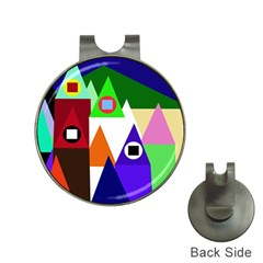 Colorful houses  Hat Clips with Golf Markers