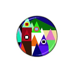 Colorful houses  Hat Clip Ball Marker