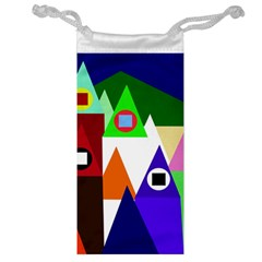 Colorful houses  Jewelry Bags