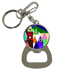 Colorful houses  Bottle Opener Key Chains