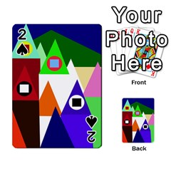 Colorful houses  Playing Cards 54 Designs