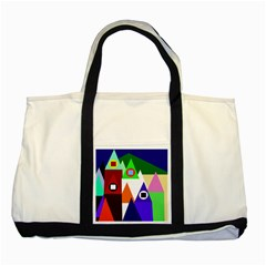 Colorful houses  Two Tone Tote Bag