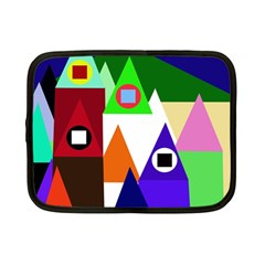 Colorful houses  Netbook Case (Small)