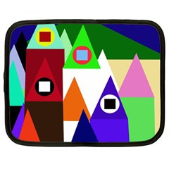 Colorful houses  Netbook Case (Large)
