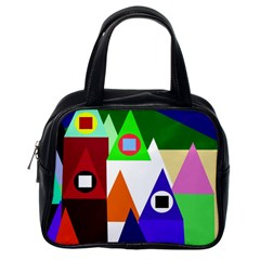 Colorful houses  Classic Handbags (One Side)