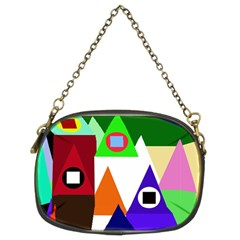 Colorful houses  Chain Purses (Two Sides)