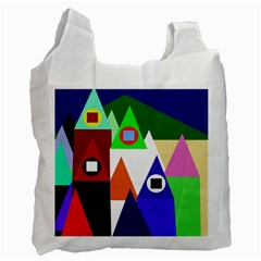 Colorful houses  Recycle Bag (One Side)