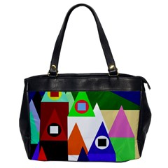 Colorful houses  Office Handbags