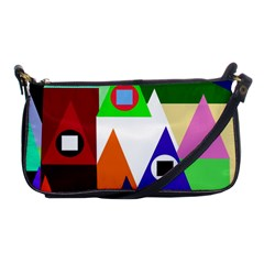 Colorful houses  Shoulder Clutch Bags