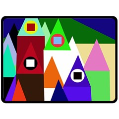 Colorful houses  Fleece Blanket (Large)