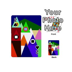 Colorful houses  Playing Cards 54 (Mini)