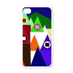 Colorful houses  Apple iPhone 4 Case (White)