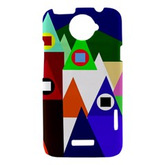 Colorful houses  HTC One X Hardshell Case