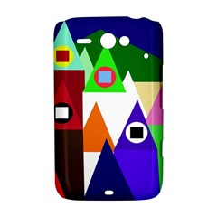 Colorful houses  HTC ChaCha / HTC Status Hardshell Case
