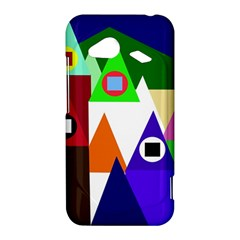 Colorful houses  HTC Droid Incredible 4G LTE Hardshell Case