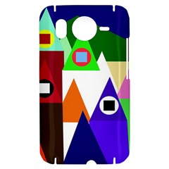 Colorful houses  HTC Desire HD Hardshell Case