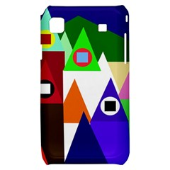Colorful houses  Samsung Galaxy S i9000 Hardshell Case