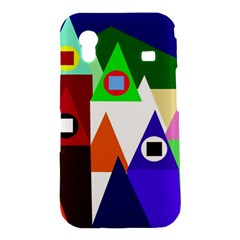 Colorful houses  Samsung Galaxy Ace S5830 Hardshell Case